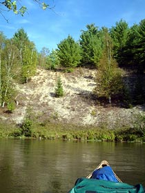 bluff on the Manistee River